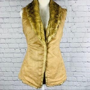 Crosby Suede Fur Vest size Large